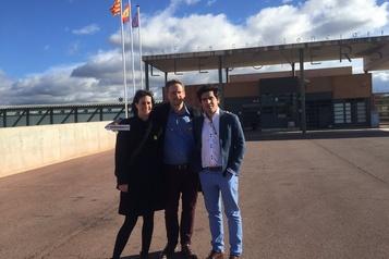 Sylvain Gaudreault et Ruba Ghazal visitent une prison catalane