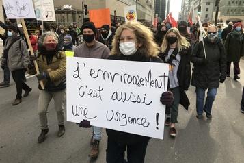 Marche pour le climat à Montréal)