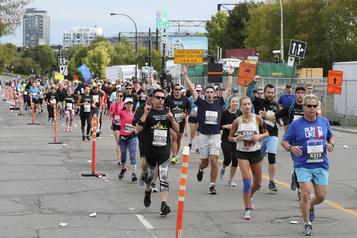 Coup d'envoi du marathon de Montréal