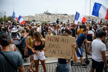 France Le passeport sanitaire à un seul vote d'être adopté définitivement)