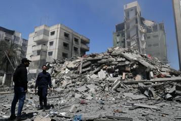 Gaza La maison d'un dirigeant du Hamas visée par un raid israélien)