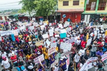 Haïti Des centaines de manifestantes dans les rues pour s'opposer à la violence)