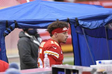 Chiefs de Kansas City Patrick Mahomes victime d'une commotion cérébrale)
