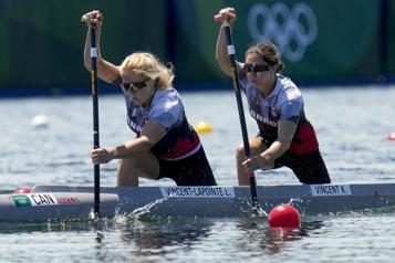C2 500m Laurence Vincent-Lapointe et Katie Vincent se qualifient pour les demi-finales)