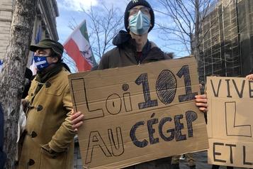Manifestation à Montréal «Notre génération aussi s'inquiète de l'état de la langue française» )