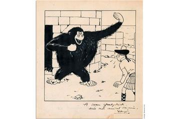 Plus de 250000euros pour un dessin d'Hergé
