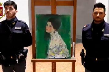 Un tableau volé qui aurait été peint par Klimt retrouvé par hasard