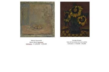 Christie's vend deux tableaux de la collection Yves Montand