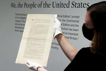 La Constitution des États-Unis mise aux enchères pour 15 à 20millions)