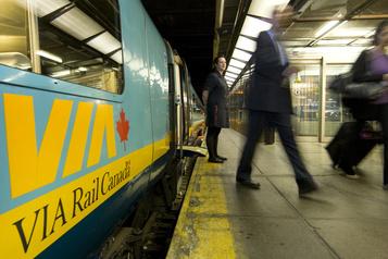 VIA Rail: reprise complète sur les routes Québec-Montréal-Ottawa ce lundi