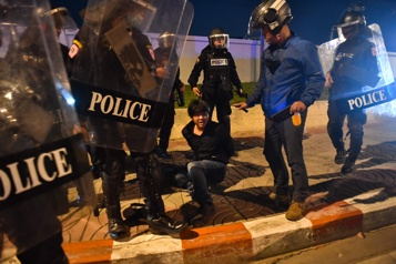 Thaïlande Balles en caoutchouc et canons à eau contre des manifestants prodémocratie)