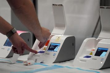 Le fédéral a reçu 100000tests de dépistage rapide)