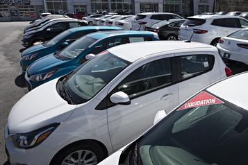 Recul de 10,4% des ventes de véhicules automobiles)