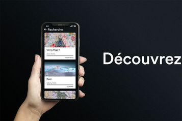 Une application d'œuvres d'art contemporain)