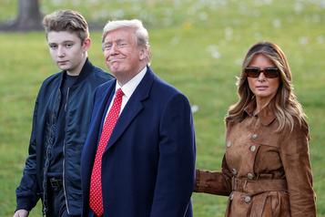 Melania en colère après la mention de son fils au Congrès