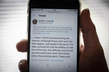 Guerre ouverte entre Trump et Twitter)
