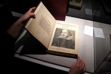 Un recueil de pièces de Shakespeare vendu 10millions)