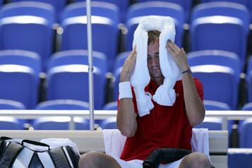La chaleur et l'humidité s'invitent au tournoi de tennis)