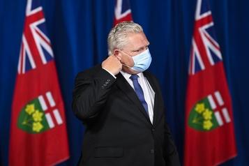 COVID-19 en Ontario Les régions de Toronto et Peel seront confinées à partir de lundi)