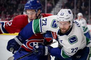 2e entracte Canadien 3 — Canucks 3)