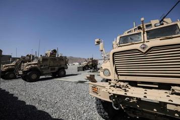Aéroport de Kaboul Les derniers vestiges de vingt ans de présence américaine)