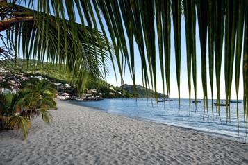 Martinique Les touristes profitent de la réouverture des plages)