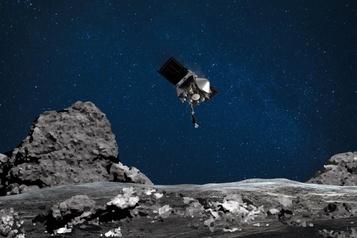 La sonde américaine Osiris-Rex a touché l'astéroïde Bennu)