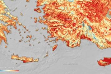 Réchauffement climatique Turquie et Chyprecuisent à 50degrés C° au sol)
