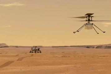 Vol d'un hélicoptère sur Mars Ingenuity peut (enfin) décoller)