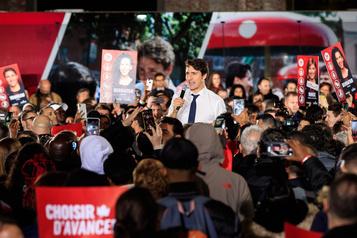Trudeau s'adresse à des partisans à Montréal