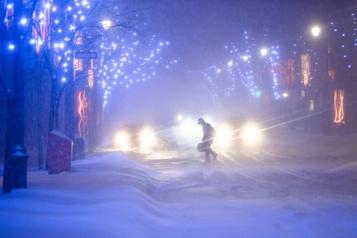 Près de 15centimètres de neige pour le sud du Québec cette nuit