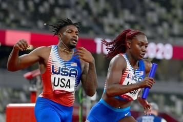Athlétisme 4x 400m mixte Grands favoris, les États-Unis ont été disqualifiés )