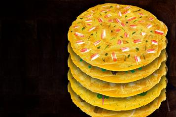 Gâteau d'omelettes aux «étages» dechefs)