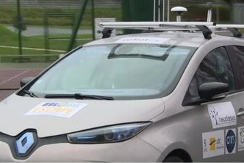 Première démonstration d'un véhicule autonome européen