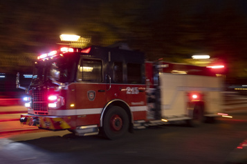 Incendie suspect dans Villeray–Saint-Michel–Parc-Extension )