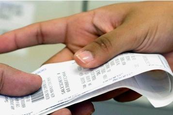 Des reçus imprimés sur du papier jugé dangereux