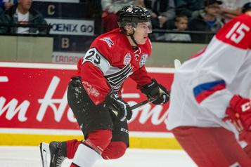 Équipe Canada junior Samuel Poulin est conscient du haut niveau de compétition)
