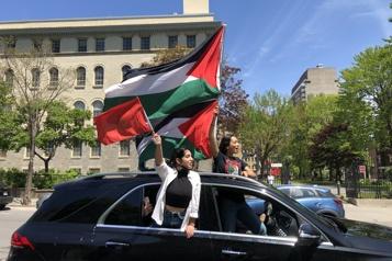 Manifestation en soutien à la Palestine «Ça me brise le cœur de voir ce qui se passe chezmoi» )