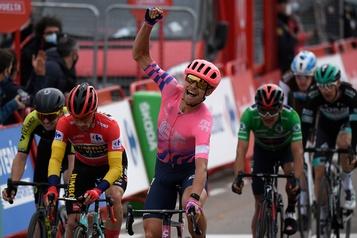 Tour d'Espagne Cort Nielsen gagne la 16eétape, Roglic engrange 6secondes)
