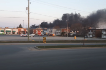 Incendie industriel majeur à Saint-Jean-sur-Richelieu)