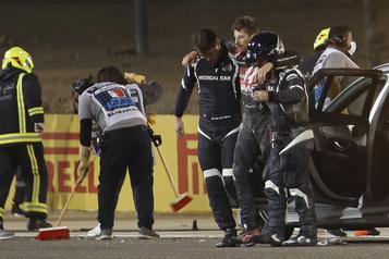 Hospitalisé à Bahreïn Romain Grosjean devrait obtenir son congé mercredi )