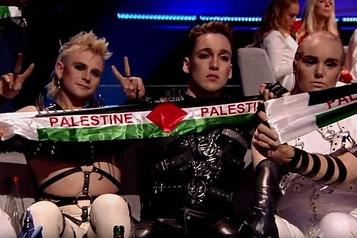 Concours de l'Eurovision: sanction pour des banderoles aux couleurs palestiniennes