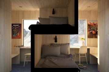 La bonne idée: un lit superposé pour plusd'intimité)