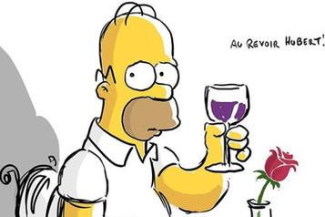 Les Simpsons disent au revoir à Hubert Gagnon)