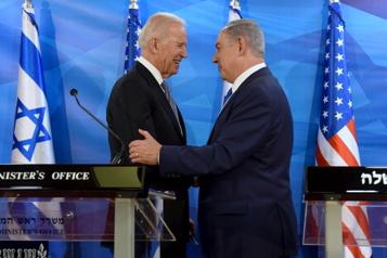 Soutien des «États-Unis au droit d'Israël à se défendre»)