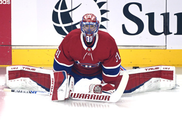 Canadien Carey Price face aux Canucks)