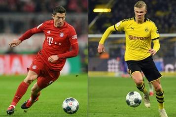 Soccer : l'apprenti Haaland défie le maître Lewandowski)