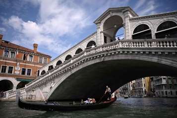 Venise Le pont du Rialto inauguré après sa restauration