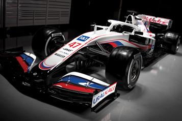 Formule 1 L'écurie Haas présente une monoplace aux couleurs russes)