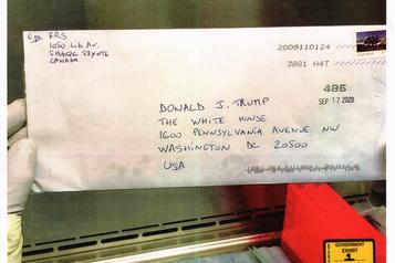 Lettre empoisonnée envoyée à Donald Trump L'adresse de retour menait chez Pascale Ferrier)